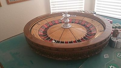 Roulette Wheel with table and chips,  circa 1920s