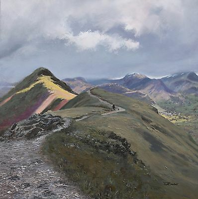 Oil Painting of Catbells - Signed, limited edition print by David Barber