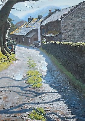 Oil Painting of Side Farm - signed limited edition print by David Barber