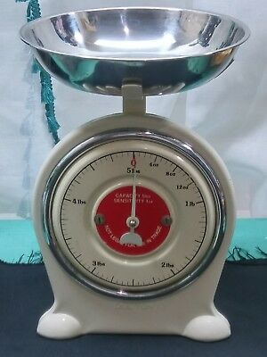 Vintage Dulton Scale Kitchen with Stainless Bowl Balance up to 5 lbs RARE