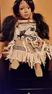 Native 16 1/2 in.  Goldenvale Collection  Porcelain Doll