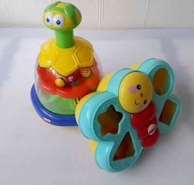 Baby Press Spin Toy Noise  And Shape Sorter  Butterfly Fisher Price