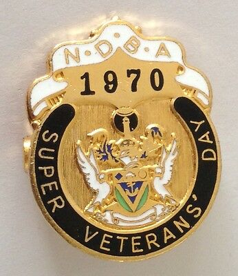 NDBA 1970 Super Veterans Day Bowling Club Badge Pin Vintage Lawn Bowls (L33)