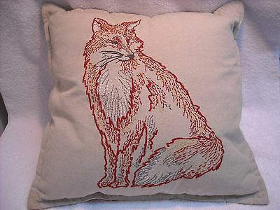 "Needle Point 18"" Square ""fox"" Pillow"