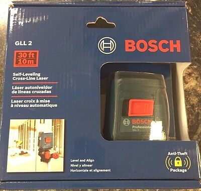 Bosch GLL2 Self-Leveling Cross-Line Laser Level With Mount