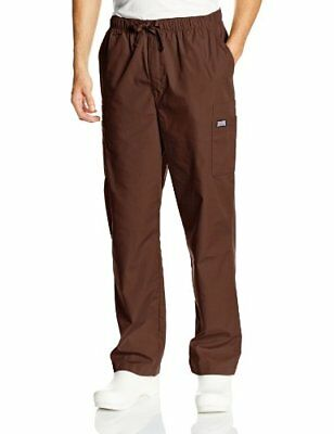 Cherokee Men's Workwear Scrubs Cargo Pant Chocolate Small