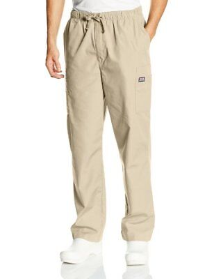 Cherokee Workwear Scrubs Men's Cargo Pant Khaki Medium/Tall