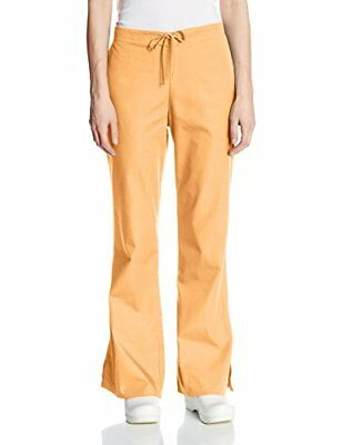 Cherokee Women's Ww Drawstring Pant Orange Sorbet X-Large Tall