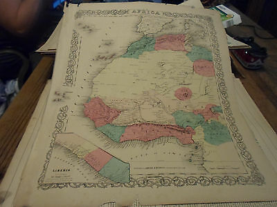 1855 Colton's Map Of West Africa - Hand-Colored! - By Johnson & Browning Nice!