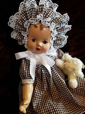 """Antique Vtge Composition CHUBBY TODDLER Mama Baby Doll 24"""" BROWN EYED BEAUTY!!"""