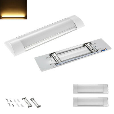 2X 1FT LED Batten Linear Ceiling Lights Tube Lamp Fluorescent Replacement Warm