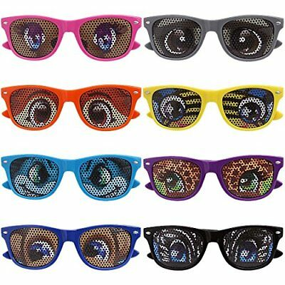 Ava & Kings 8 pc Mixed Color Cartoon Animal Eye Decal Childrens Party Sun...