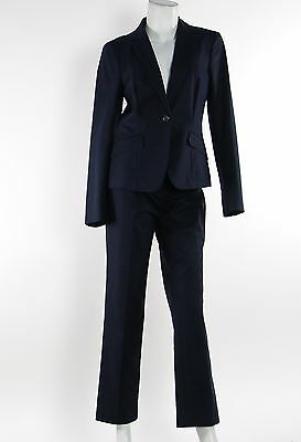 New With Tags Women's BROOKS BROTHERS Navy Long Sleeve Pant Suit Size 6