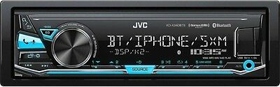JVC KD-X340BTS Single-Din Car Digital Media Bluetooth Receiver, USB/AUX/Sirius O