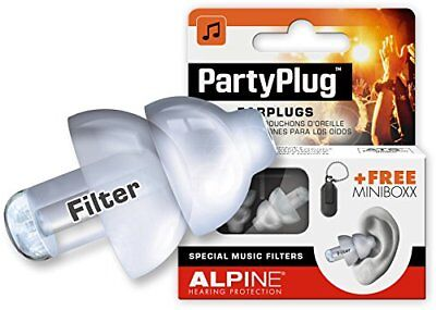 Alpine Hearing Protection PartyPlug Ear Plugs for Loud Music Environments Clear