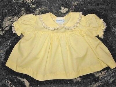 VTG Nannette Baby Dress/Top Size 0 for Infant or Doll - Excellent Condition!