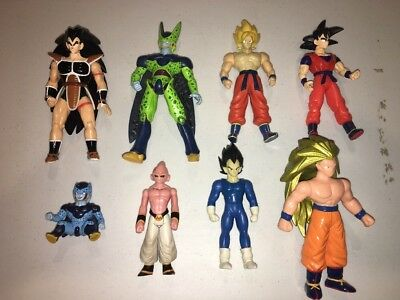 Dragon Ball Z Action Figure Lot Of (8) Bandai Toy