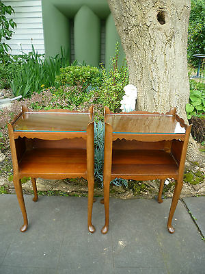 Matching Pair of 2 Antique Cedar Bedside Tables!