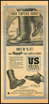 1951 vintage ad for US Royal Rubber Boots