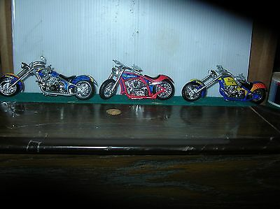 set of three sunoco motorcycles