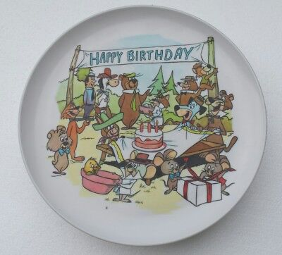 Yogi Bear Musical Cake Plate in Box Melmac Happy Birthday Hanna-Barbera Boonton