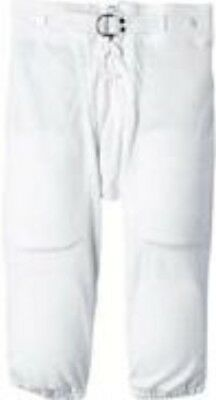 Football Practice Pants Lace Up Fly Snaps Half Belt Youth White Russell Athletic