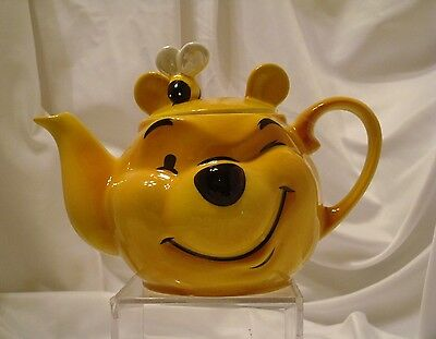 Cardew Disney Character Collection Winnie the Pooh Face Teapot & Bee NWT 2002