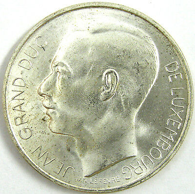 1964 Luxembourg  100 Francs  Km# 54  Silver  BU  Nice Looking Coin!!
