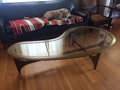 Mid Century Modern Lane Biomorphic Amoeba Kidney Coffee Table Adrian Pearsall