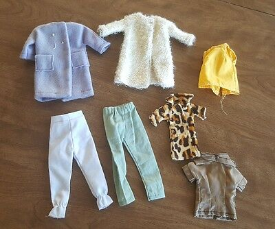 Vintage Handmade Lot of Barbie Doll Fashion Clothes Jackets, Pants, Shirts GUC