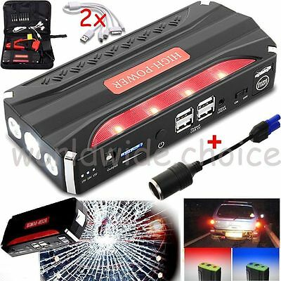 68800mAh12V 4USB Multi-Function Car Jump Starter Power Bank Rechargable Battery