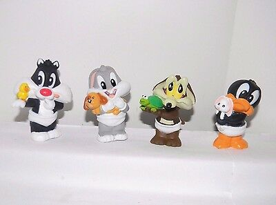 Warner Bros 1996 BABY Sylvester~Bugs~Wile Coyote~Daffy Duck~Soft Plastic Figures