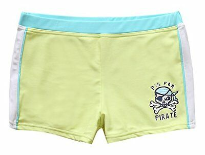 BeautyIn Boys Cute Yellow Shark printed One Piece Swimming Trunks/Shorts/Boxers