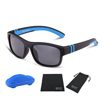Duco Kids Sports Style Polarized Sunglasses Rubber Flexible Frame For Boys An...