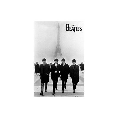 Affiche Poster Plastifié BEATLES A PARIS
