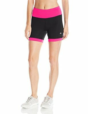 "Tapout Women's Warrior Compression Short 3.5"" Black/Beetroot Large"