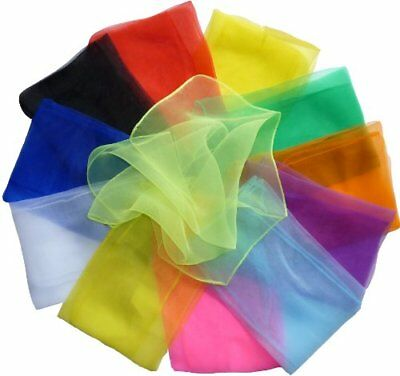 HOEREV Small Movement Scarves Pack of 12 Mixed (approx. 40cm x 40cm)