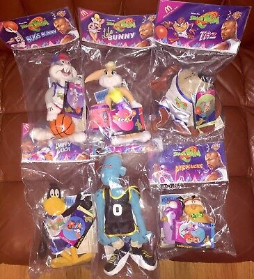 Vintage 1996 Looney Tunes McDonald's Space Jam Plush Set of 6 Warner Bros