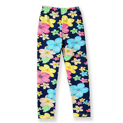 Toddle Baby Girl Floral Print Leggings Tight Long Pants Soft Stretchy Trousers