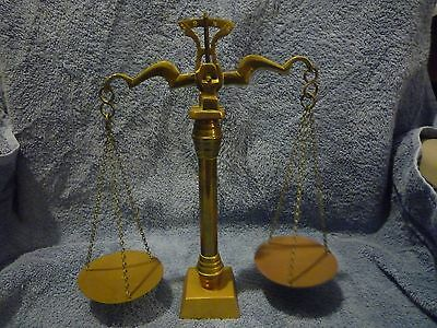 Justice Style Weight Balance Beam Scale Brass and metal
