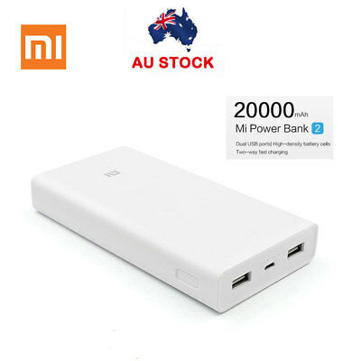 20000mAh Xiaomi Power Bank Dual USB Universal External Battery Portable Charge f