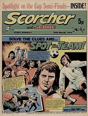 Scorcher and Score football comic 30th March 1974
