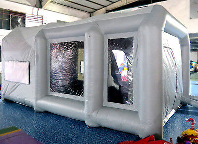 custom made certified giant Oxford cloth inflatable spray booth paint 8x4x3m