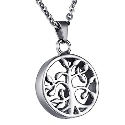 COCO Park Tree of Life Cremation Jewelry Stainless Steel Urn Pendant Necklace...