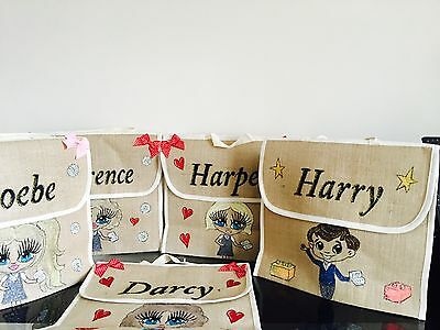 GIRLS PERSONALISED School BOOK BAGS ANY NAME ANY UNIFORM / STYLE /GIFT/music art
