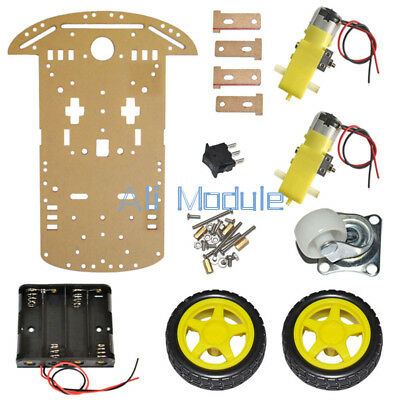 2WD Smart Robot Car Chassis Kits Arduino 2 motor 1:48 Speed encoder Battery Box