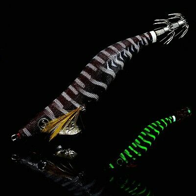 RUI SQUID JIG AK48 CLEAR BODY WITH PURPLE  SEE THROUGH BELLY size 3.5 GLOW