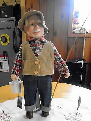 Doll, Grandpa Goes Fishing, Decor & More Co.  Collectible Vintage Doll.