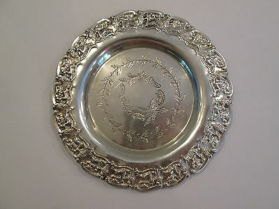 Sterling Silver Owl and Stag Themed Plate / Coaster / Dish