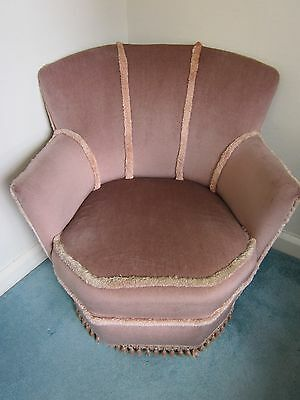 Classical and Stylish Unusual Pink Dralon Tub Chair